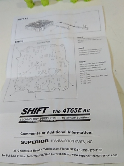 kit, valve, body, shift correction package, 4t65-e, gm (97-up)