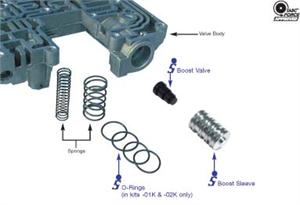 Reverse Boost Valve & Sleeve Kit, Factory Style, Diesel Ratio