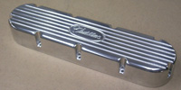 VALVE COVERS,Cadillac,368,425,472,500,Flat Top Style,w/Machined Small Cadillac Script and Fins